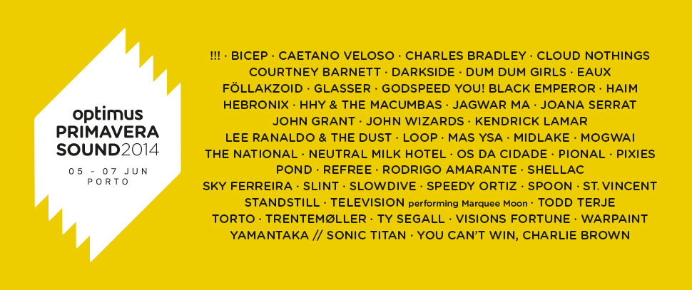 Optimus Primavera Sound 2014 - cartaz